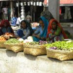 Garasiya ladies selling vegetables