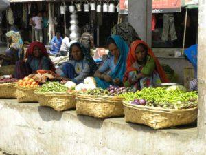 Garasiya ladies selling vegetables